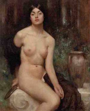 A Female Nude | Arthur Hacker | Oil Painting