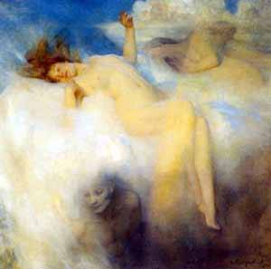 The Cloud | Arthur Hacker | Oil Painting
