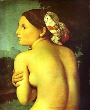 Half Figure Of A Bather | Jean Auguste Dominique Ingres | Oil Painting