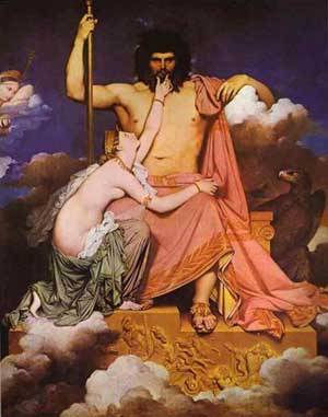 Jupiter And Thetis | Jean Auguste Dominique Ingres | Oil Painting