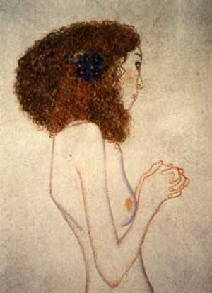 Beethoven Frieze The Yearning For Luc Detail Imploring Girl | Gustave Klimt | Oil Painting