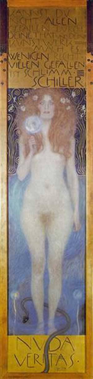 Nude Veritas | Gustave Klimt | Oil Painting