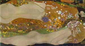 Water Serpents   Gustave Klimt   Oil Painting