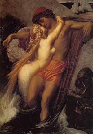 Fisherman And Siren | Lord Frederick Leighton | Oil Painting