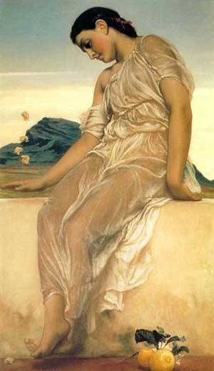 Girl | Lord Frederick Leighton | Oil Painting