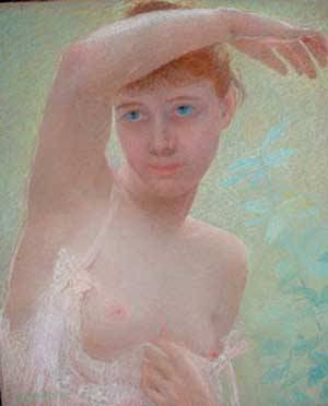 Young Girl | Levy-Dhurmer Lucien | Oil Painting