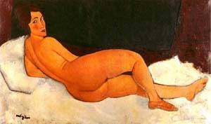 Nude Looking Over Her Right Shoulder | Amedeo Modigliani | Oil Painting