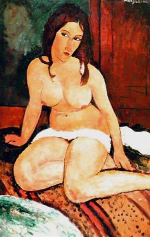 Nude Seated | Amedeo Modigliani | Oil Painting