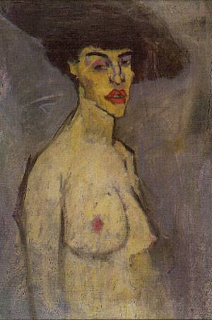 Nude With A Hat | Amedeo Modigliani | Oil Painting