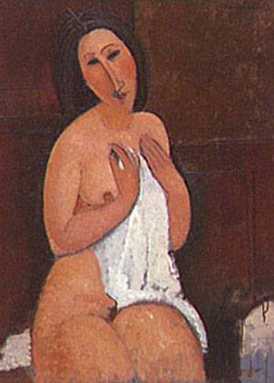 Nu Assis A La Chemise | Amedeo Modigliani | Oil Painting