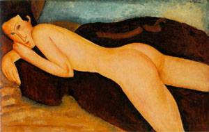 Reclining Nude From The Back | Amedeo Modigliani | Oil Painting