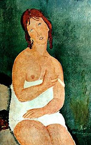 Redhead In Chemise | Amedeo Modigliani | Oil Painting