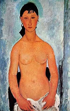 Standing Nude Elvira | Amedeo Modigliani | Oil Painting