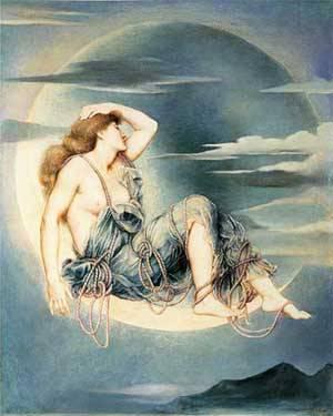 Luna   Evelyn De Morgan   Oil Painting