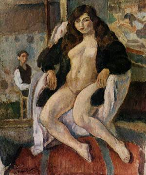 An Artist And His Model | Jules Pascin | Oil Painting