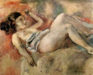 Nude Sleeping | Jules Pascin | Oil Painting