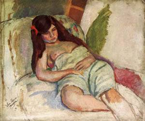 Reclining Woman | Jules Pascin | Oil Painting