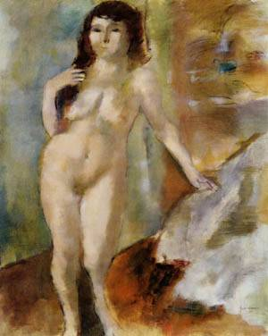 Standing Nude | Jules Pascin | Oil Painting