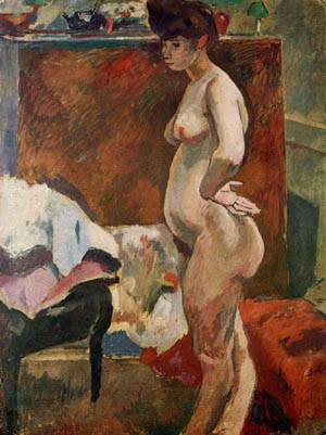 Standing Nude Woman | Jules Pascin | Oil Painting