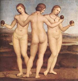 The Three Graces | Raphael Raffaello Sanzio | Oil Painting