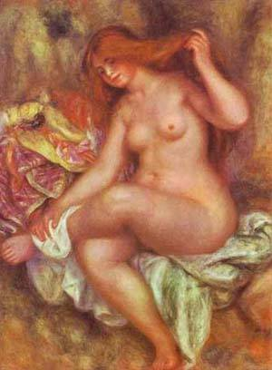 A Seated Bather   Pierre Auguste Renoir   Oil Painting