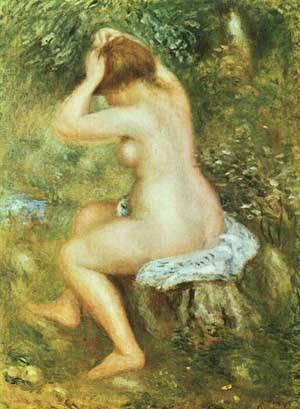 Baigneuse Se Coiffant | Pierre Auguste Renoir | Oil Painting