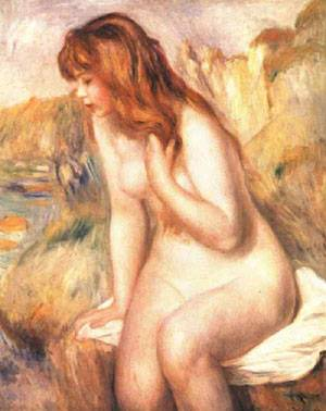 Bather On A Rock | Pierre Auguste Renoir | Oil Painting
