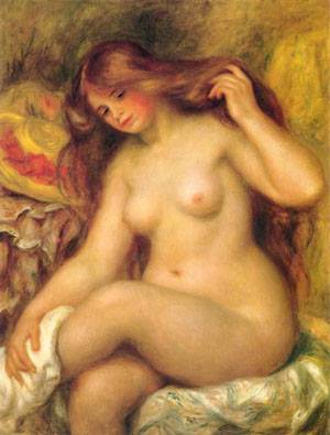 Bather With Blonde Hair | Pierre Auguste Renoir | Oil Painting