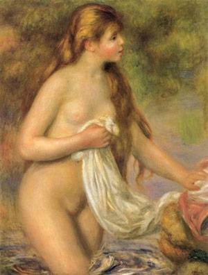 Bather With Long Hair | Pierre Auguste Renoir | Oil Painting