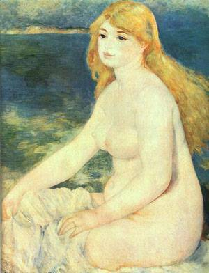 Blonde Bather | Pierre Auguste Renoir | Oil Painting