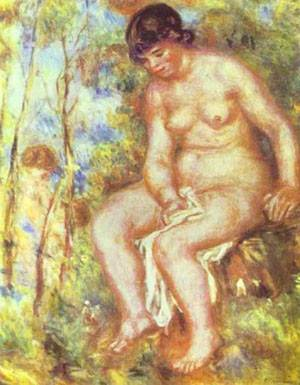 Seated Bather | Pierre Auguste Renoir | Oil Painting