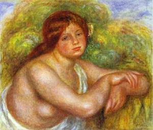 Study Of A Nude | Pierre Auguste Renoir | Oil Painting