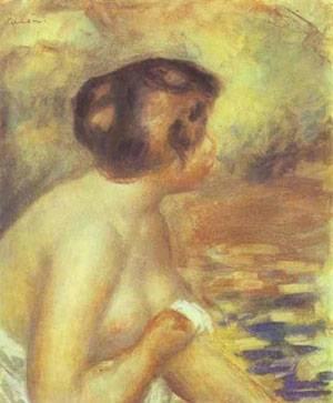 The Bather   Pierre Auguste Renoir   Oil Painting