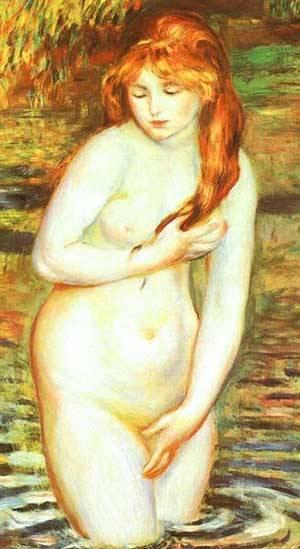 The Bather1   Pierre Auguste Renoir   Oil Painting