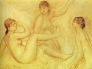 The Bathers Pastel | Pierre Auguste Renoir | Oil Painting