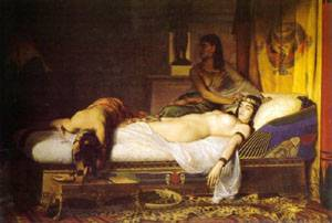Death Of Cleopatra | Rixens Jean Andre | Oil Painting