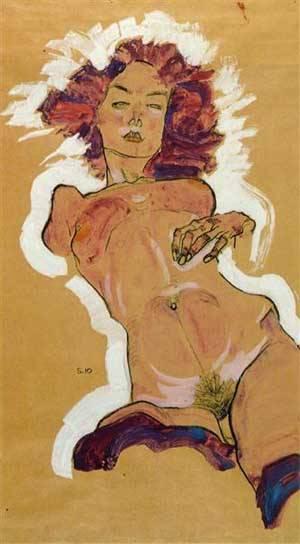 Female Nude | Egon Schiele | Oil Painting