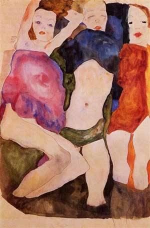 Three Girls | Egon Schiele | Oil Painting