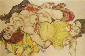 Two Women | Egon Schiele | Oil Painting