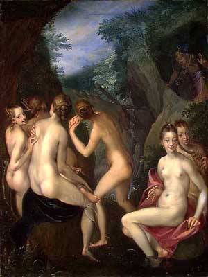 Diana And Actaeon | Bartholomaus Spranger | Oil Painting