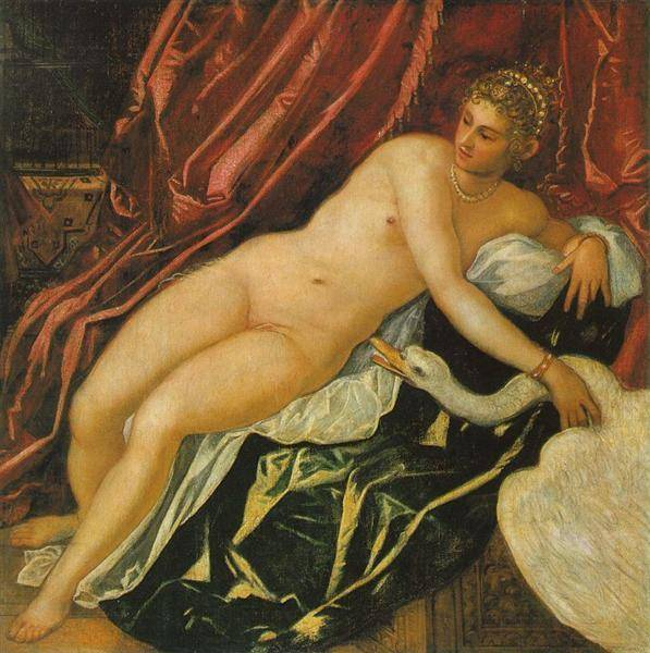 Leda And The Swan | Tintoretto Jacopo Robusti | Oil Painting