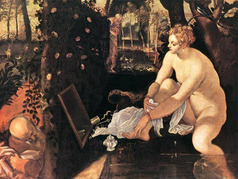 Susanna And The Elders   Tintoretto Jacopo Robusti   Oil Painting