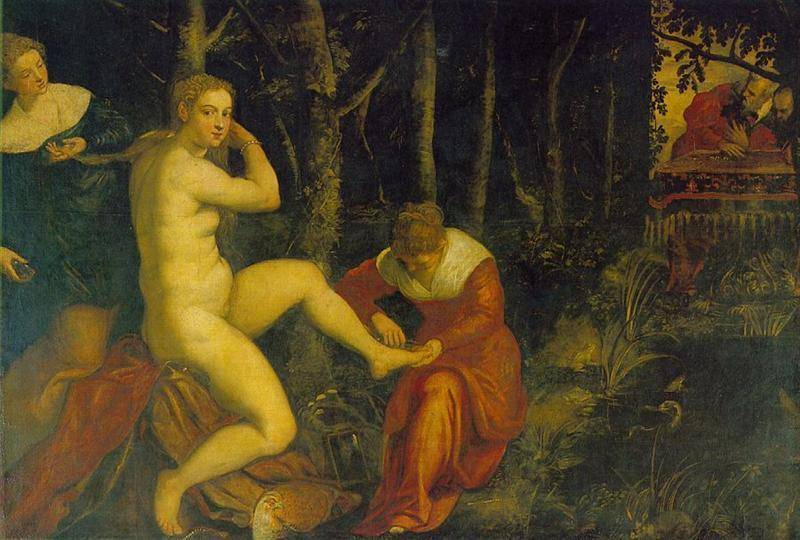 Susanna At Her Bath   Tintoretto Jacopo Robusti   Oil Painting