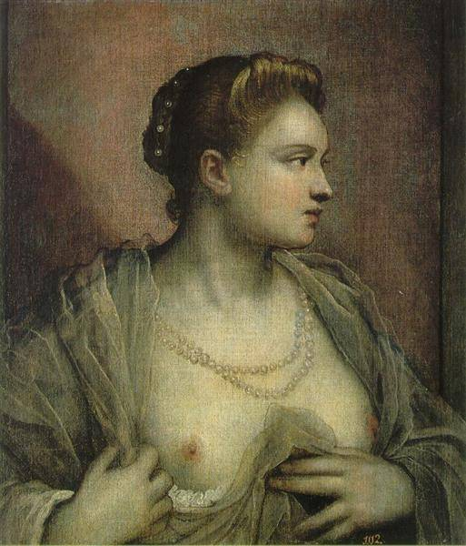 The Woman Who Discovers The Bosom | Tintoretto Jacopo Robusti | Oil Painting