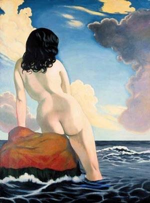 Baigneuse Ciel Orageux | Felix Vallotton | Oil Painting