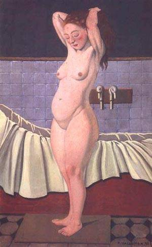 Femme Au Bain Se Coiffant | Felix Vallotton | Oil Painting