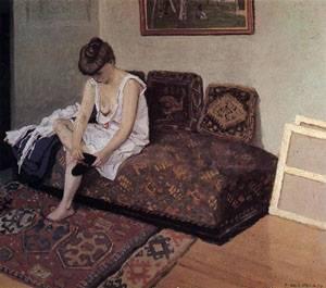 The Black Stocking | Felix Vallotton | Oil Painting