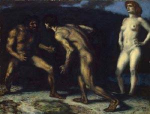 Battle For A Woman | Franz Von Stuck | Oil Painting