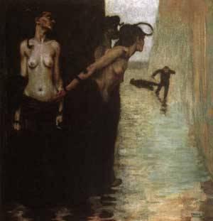 The Murderer | Franz Von Stuck | Oil Painting