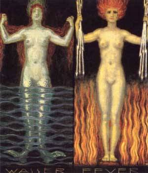 Water And Fire | Franz Von Stuck | Oil Painting